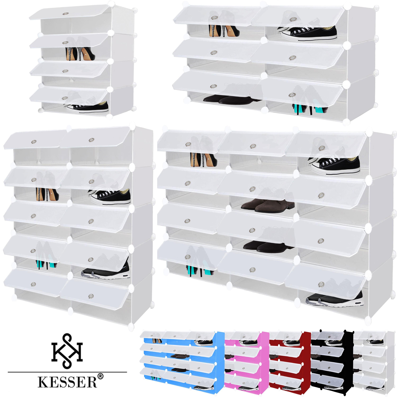 kesser diy regalsystem steckregal standregal schrank kleiderschrank schuhschrank ebay. Black Bedroom Furniture Sets. Home Design Ideas