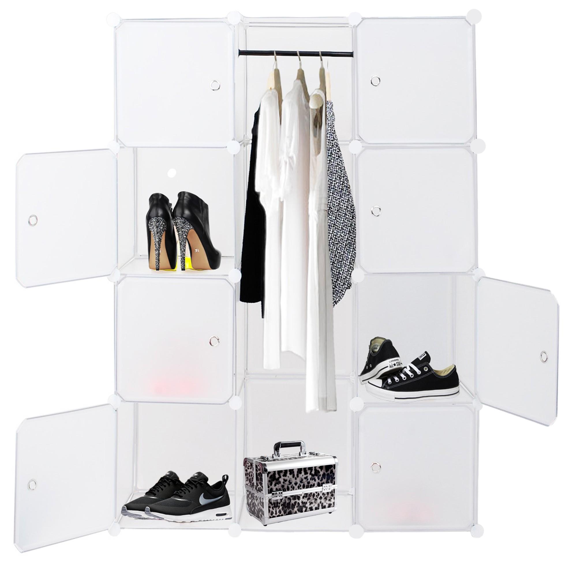 Kesser kleiderschrank diy schrank regalsystem steckregal for Garderobe 600